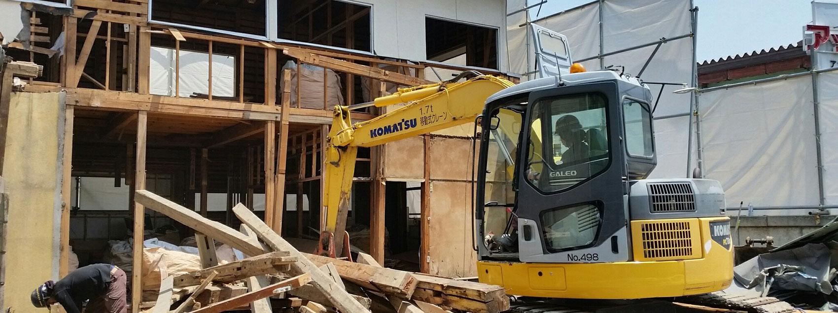 楢本興業の建物解体工事